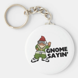 Porte-clés Gnome drôle de butin de Sayin de gnome