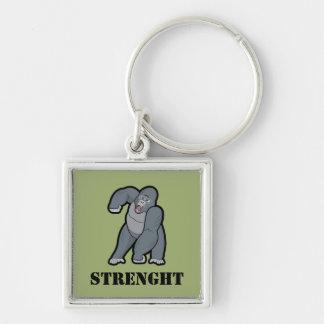 Porte-clés Gorille fâché des textes faits sur commande