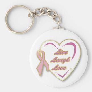 Porte-clés Goupille vivante de ruban de rose d'amour de rire