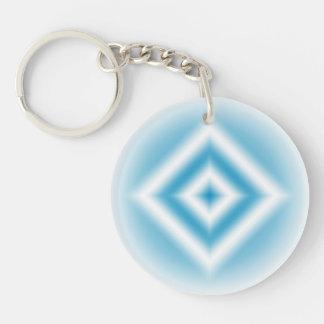 Porte-clés gradient bleu de diamant de Personnaliser-ciel
