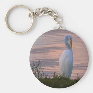 Porte-clés Grand héron au porte - clé de lever de soleil