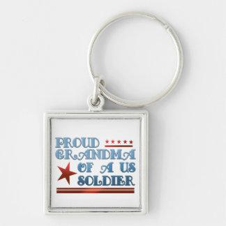 Porte-clés Grand-maman fière d'un soldat des USA