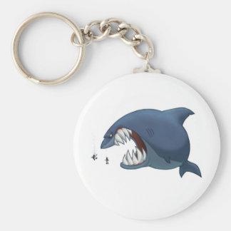 Porte-clés Grand porte - clé de requin blanc