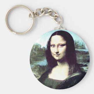 Porte-clés Grand porte - clé rond de Mona Lisa