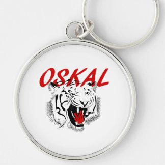 Porte-clés Grand tigre de grimace d'Oskal