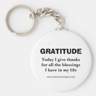 Porte-clés GRATITUDE, aujourd'hui je donne à thanksfor toute
