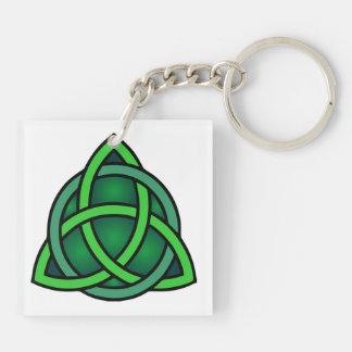 Porte-clés gre irlandais païen de noeud de symbole antique