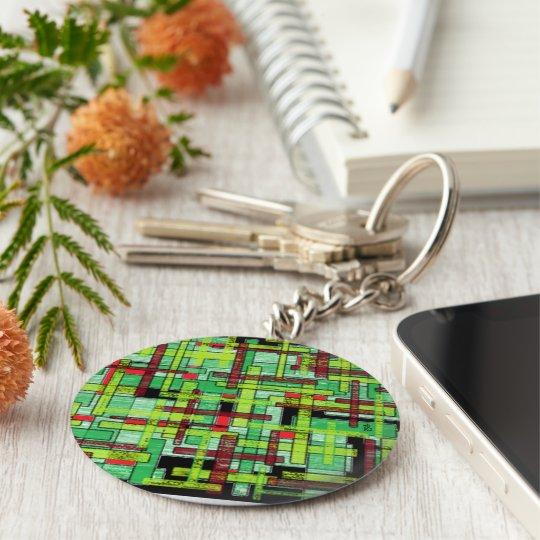 Porte-clés green cristal