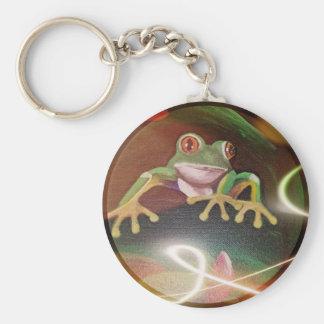 Porte-clés Grenouille dans une bulle