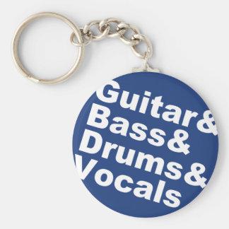 Porte-clés Guitar&Bass&Drums&Vocals (blanc)