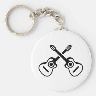 Porte-clés Guitares acoustiques croisées