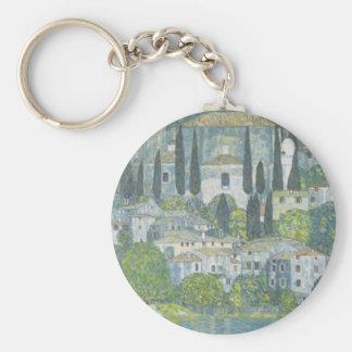 Porte-clés Gustav Klimt - église dans l'oeuvre d'art de