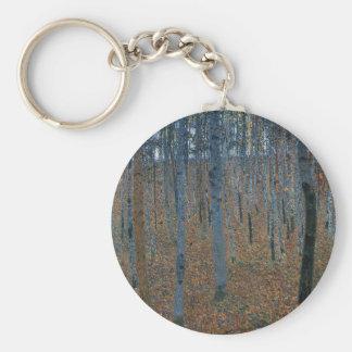 Porte-clés Gustav Klimt - hêtraie. Faune de nature d'arbres