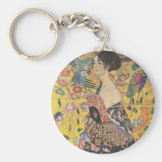 Porte-clés Gustav Klimt - Madame With Fan Painting