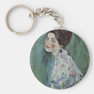 Porte-clés Gustav Klimt - portrait de Madame Painting