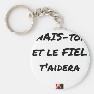Porte-clés HAIS-TOI ET LE FIEL T'AIDERA - Jeux de mots