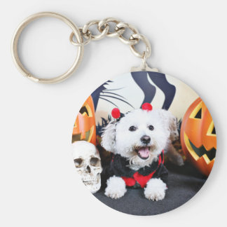 Porte-clés Halloween - Bichon Frise - Andi