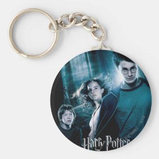 Porte-clés Harry Potter Ron Hermione dans la forêt