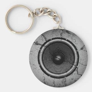 Porte-clés Haut-parleur de musique sur un mur criqué
