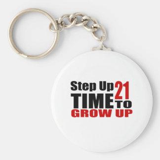 Porte-clés Heure 21 de grandir des conceptions d'anniversaire