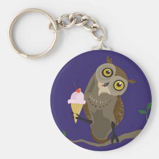 Porte-clés Hibou avec le porte - clé de glace