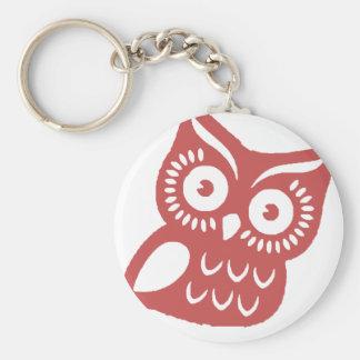 Porte-clés Hibou rouge frais
