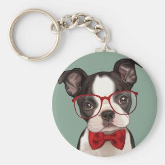 Porte-clés Hippie Boston Terrier