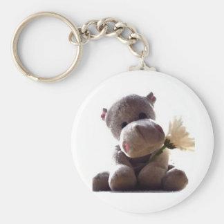 Porte-clés Hippopotame heureux