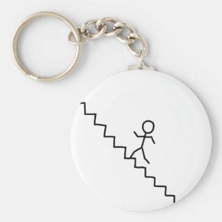 Porte-clés Homme de bâton allant le porte - clé d'escaliers