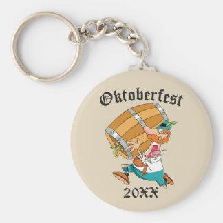 Porte-clés Homme d'Oktoberfest avec le barillet