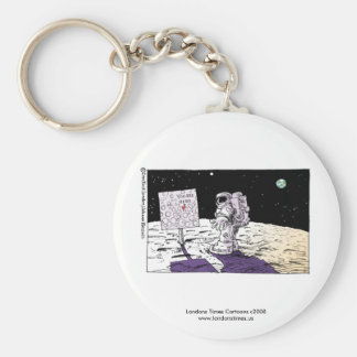 Porte-clés Homme perdu sur le porte - clé drôle de lune