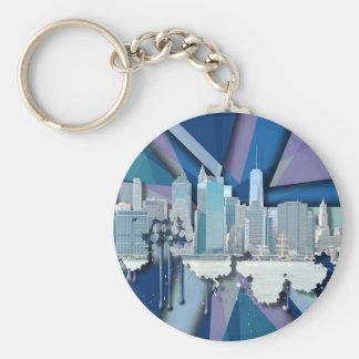 Porte-clés Horizon | 3D bleu de New York City