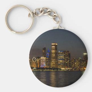 Porte-clés Horizon Chicago Pano de nuit
