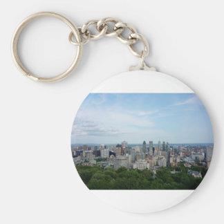 Porte-clés Horizon de ville de Montréal