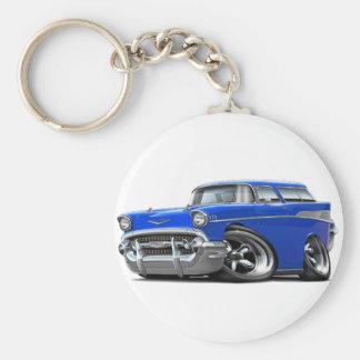 Porte-clés Hot rod 1957 de bleu de nomade de Chevy