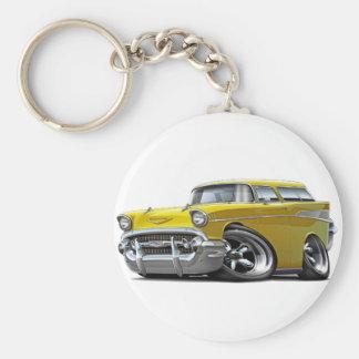 Porte-clés Hot rod 1957 de jaune de nomade de Chevy