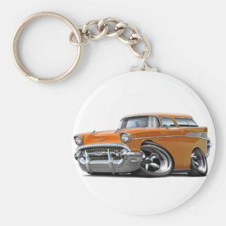 Porte-clés Hot rod 1957 d'orange de nomade de Chevy