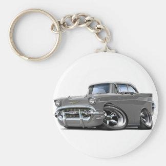Porte-clés Hot rod 1957 Gris-Blanc de Chevy Belair