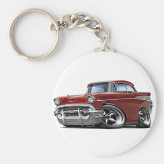 Porte-clés Hot rod 1957 marron de Chevy Belair