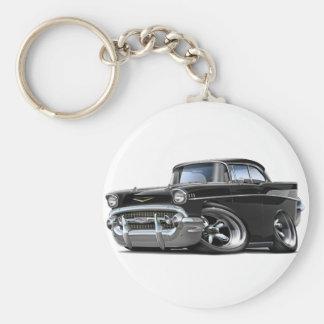 Porte-clés Hot rod 1957 noir de Chevy Belair