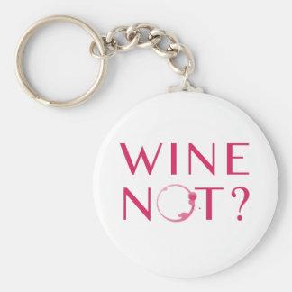 Porte-clés Humour d'amateur de vin du vin non  