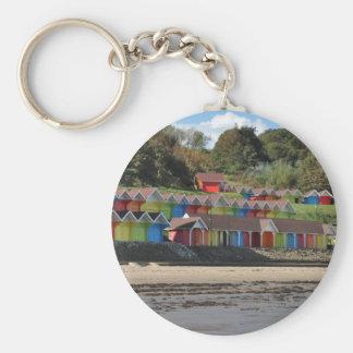 Porte-clés Huttes de plage de Scarborough