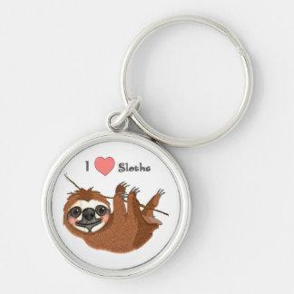 Porte-clés I animaux de bébé de paresses de coeur