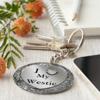 Porte-clés I coeur (amour) mon porte - clé de Westie