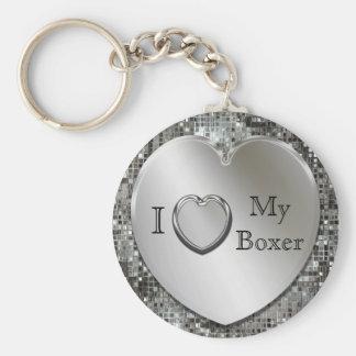 Porte-clés I coeur mon porte - clé de coeur de boxeur