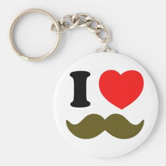 Porte-clés I coeur Stache