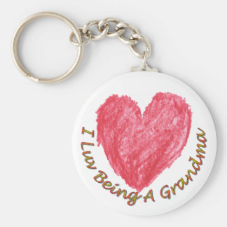 Porte-clés I Luv étant un porte - clé de grand-maman
