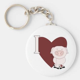 Porte-clés I porte - clés de Piggies de coeur