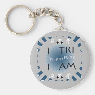 Porte-clés I tri par conséquent je suis triathlon