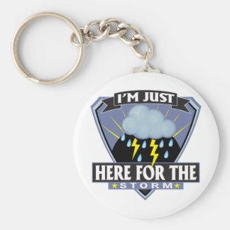 Porte-clés Ici pour la tempête